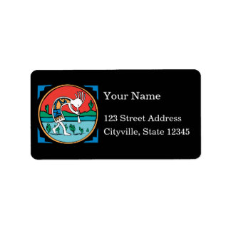 Kokopelli Color Personalized Address Labels