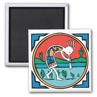 Kokopelli Color Fridge Magnet