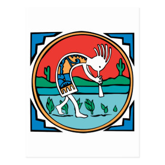 Kokopelli Color Postcards