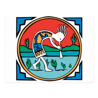 Kokopelli Color Post Cards
