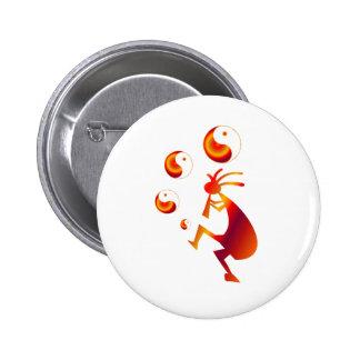 Kokopelli con Yin rojo Yang Pin