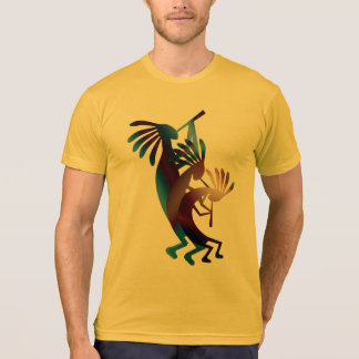 Kokopelli Dance American Apparel Gold T-Shirt