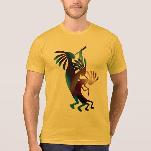 Kokopelli Dance American Apparel Gold Tshirts