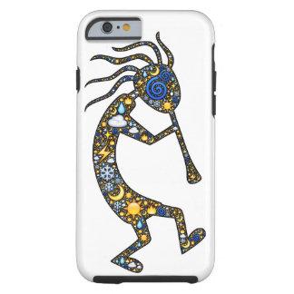 Kokopelli dancing and playing design iPhone case