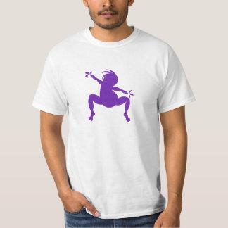 Kokopelli de baile púrpura divertido playera