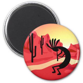 Kokopelli Desert Sunset Magnet Refrigerator Magnets