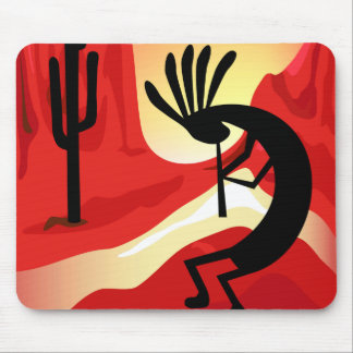 Kokopelli Desert Sunset Southwest Mousepad