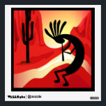 """Kokopelli Desert Sunset Wall Decal<br><div class=""""desc"""">The Kokopelli design is a graphic illustration by artist/designer Charmaine Paulson.  The illustration was made as a vector,  and then enhanced in photo software.  Enjoy!</div>"""