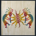 "KOKOPELLI DUO SUN   your ideas Cloth Napkin<br><div class=""desc"">Spirit Symbol Design by EDDA Fr&#246;hlich / EDDArt 