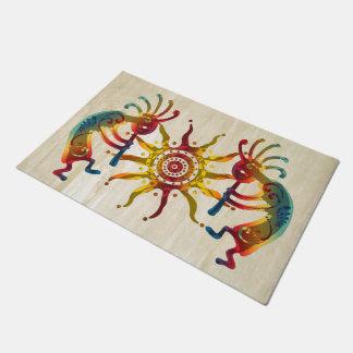 KOKOPELLI DUO SUN + your ideas Doormat