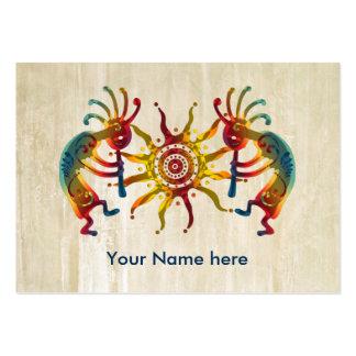 KOKOPELLI DUO SUN + your ideas Large Business Card