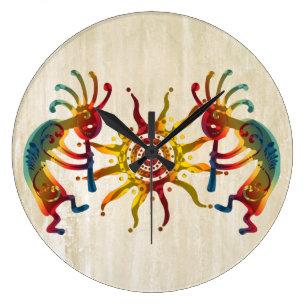 KOKOPELLI DUO SUN + your ideas Large Clock