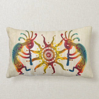 KOKOPELLI DUO SUN + your ideas Lumbar Pillow