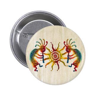 KOKOPELLI DUO SUN + your ideas Pinback Button