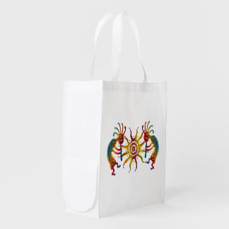 KOKOPELLI DUO SUN + your ideas Reusable Grocery Bag