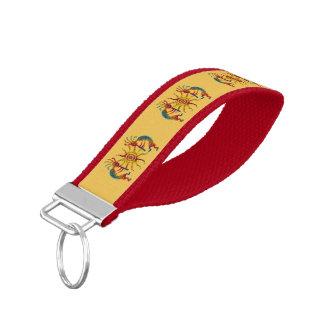 KOKOPELLI DUO SUN + your ideas Wrist Keychain