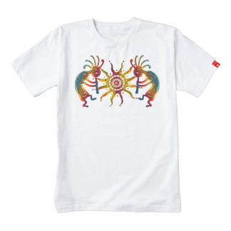 KOKOPELLI DUO SUN + your ideas Zazzle HEART T-Shirt