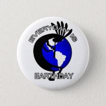 Kokopelli Earthday Button