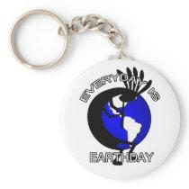 Kokopelli Earthday Keychain
