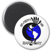 Kokopelli Earthday Magnet