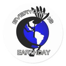 Kokopelli Earthday Sticker