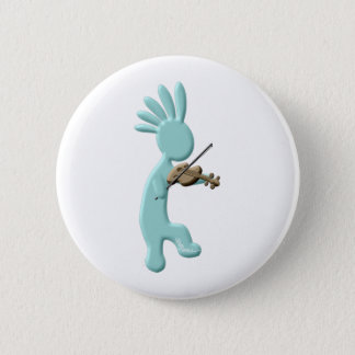 Kokopelli Fiddle Pinback Button
