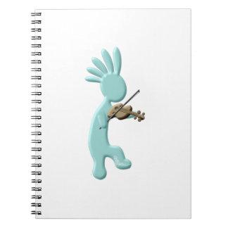 Kokopelli Fiddle Spiral Notebook