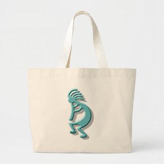 Kokopelli Flute Large Tote Bag