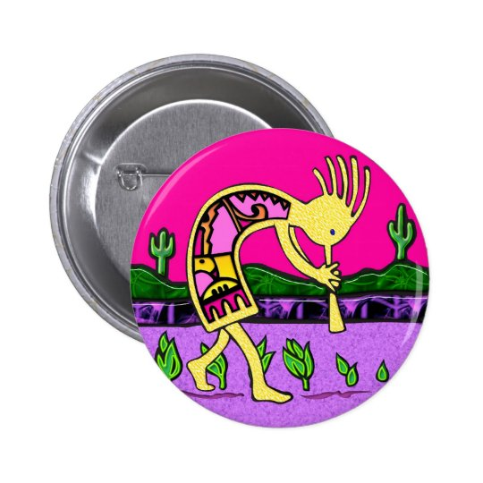 Kokopelli, Flute Player of the Desert Pinback Button