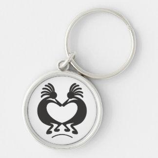 Kokopelli for Valentine's day Key Chains