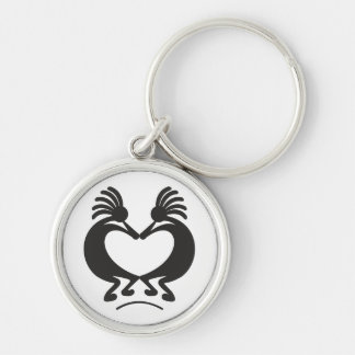 Kokopelli for Valentine's day Keychain