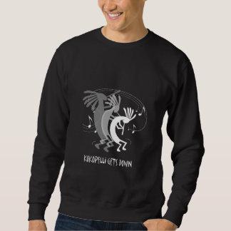 Kokopelli Gets Down Black Pull Over Sweatshirt