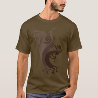 Kokopelli Gets Down Brown Mens Tee Shirt