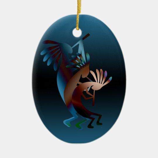 Kokopelli Gets Down Christmas Ornament