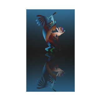 Kokopelli Gets Down Wrapped Canvas