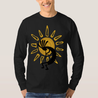 Kokopelli Gold Mens Long Sleeve T-shirt