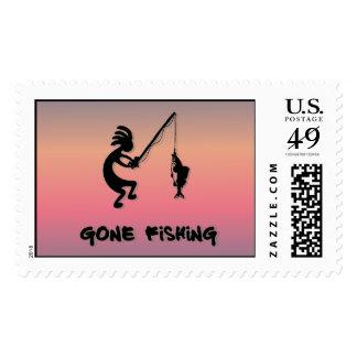 Kokopelli Gone Fishing Postage
