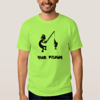 Kokopelli Gone Fishing T-shirt