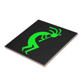 Kokopelli Green Tile