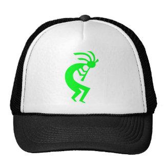 Kokopelli Green Trucker Hat