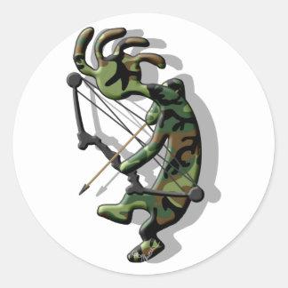 Kokopelli Hunter Classic Round Sticker