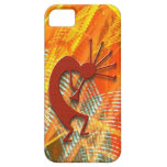 Kokopelli in an Orange Abstract iPhone 5 Cover