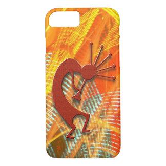 Kokopelli in an Orange Abstract iPhone 8/7 Case