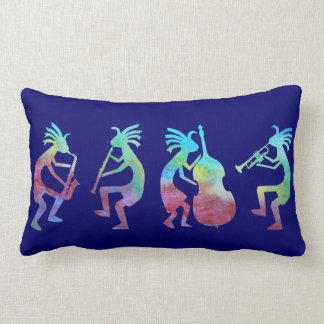 Kokopelli Jazz Quartet Throw Pillows