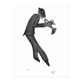 Kokopelli juega el arte de los azules tarjetas postales