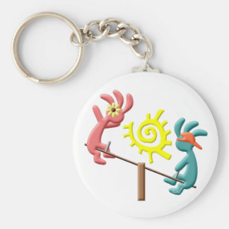 Kokopelli Kids See Saw Keychain