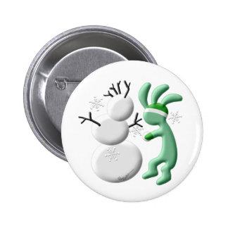 Kokopelli Kids Snowman 2 Inch Round Button