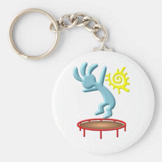 Kokopelli Kids Trampoline Basic Round Button Keychain