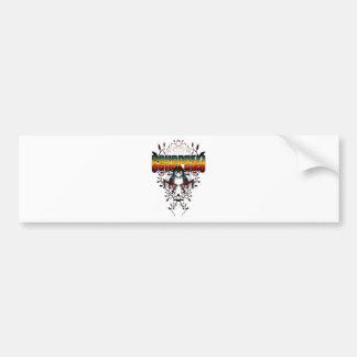 kokopelli-leaf bumper sticker