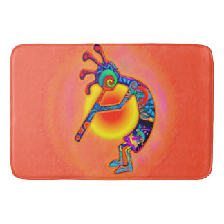Kokopelli Lizard Sun Bathroom Mat
